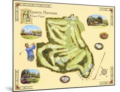 Golf Course Map, Augusta-Bernard Willington-Mounted Art Print