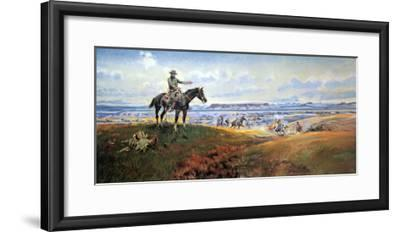 C.M. Russell and His Friends-Charles Marion Russell-Framed Art Print