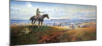 C.M. Russell and His Friends-Charles Marion Russell-Mounted Art Print