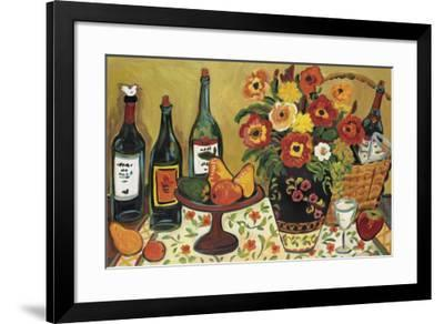 Country Pears with Wine-Suzanne Etienne-Framed Art Print