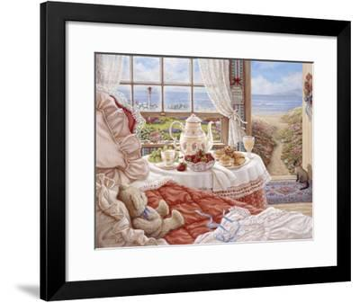 Cottage By The Sea-Janet Kruskamp-Framed Art Print