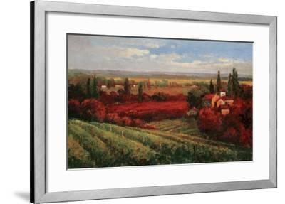 Tuscan Fields of Red-Matt Thomas-Framed Art Print