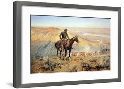 The Wagon Boss-Charles Marion Russell-Framed Art Print