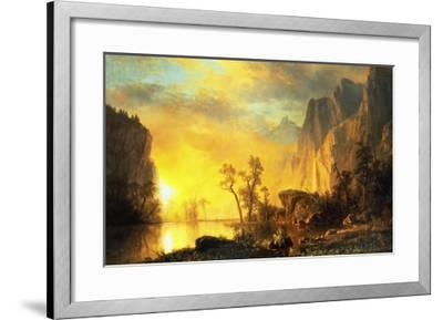 Sunset in the Rockies-Albert Bierstadt-Framed Art Print