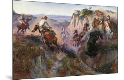 The Wild Horse Hunters-Charles Marion Russell-Mounted Art Print