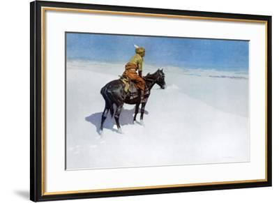 The Scout: Friends or Enemies?-Frederic Sackrider Remington-Framed Art Print