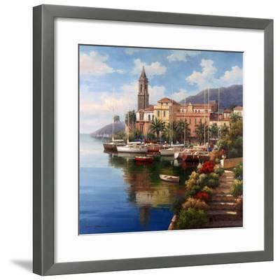 Mediterranean Harbor-Neil Jacobsen-Framed Art Print
