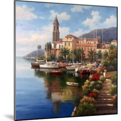 Mediterranean Harbor-Neil Jacobsen-Mounted Art Print