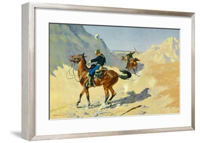 The Advance Guard-Frederic Sackrider Remington-Framed Art Print