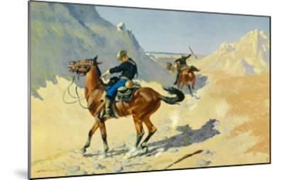The Advance Guard-Frederic Sackrider Remington-Mounted Art Print