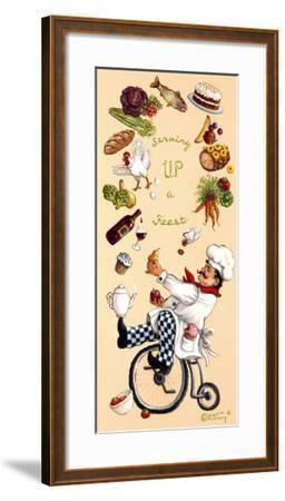 Serving Up A Feast-Janet Kruskamp-Framed Art Print