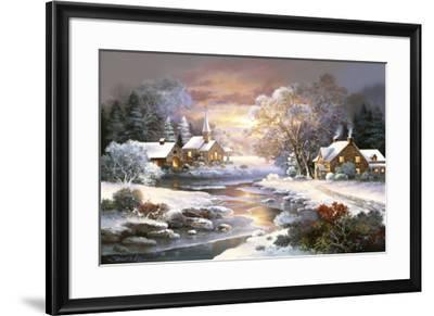 Winter Church-Alma Lee-Framed Art Print