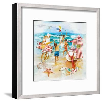 La Plage-Lizie-Framed Art Print