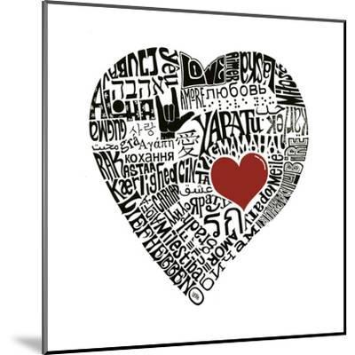 Love in 44 Languages--Mounted Art Print