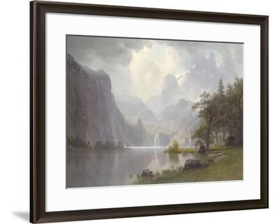 In the Mountains, c.1867-Albert Bierstadt-Framed Art Print