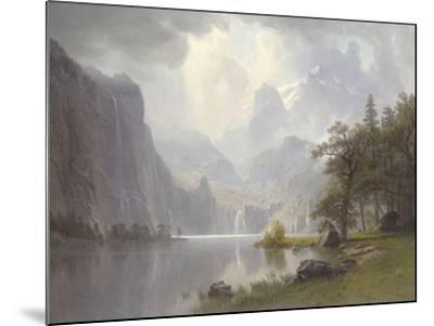 In the Mountains, c.1867-Albert Bierstadt-Mounted Art Print