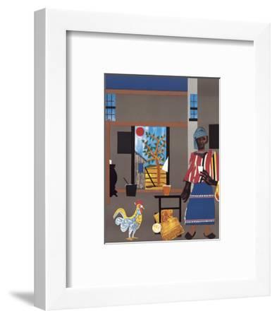 Morning of the Rooster, c.1980-Romare Bearden-Framed Art Print