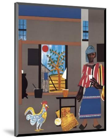 Morning of the Rooster, c.1980-Romare Bearden-Mounted Art Print