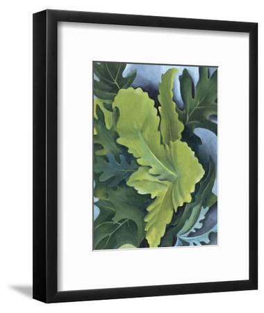 Green Oak Leaves, c.1923-Georgia O'Keeffe-Framed Art Print