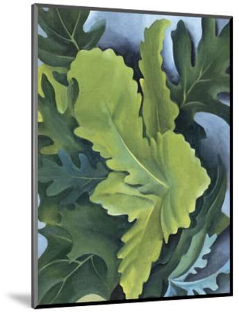 Green Oak Leaves, c.1923-Georgia O'Keeffe-Mounted Art Print