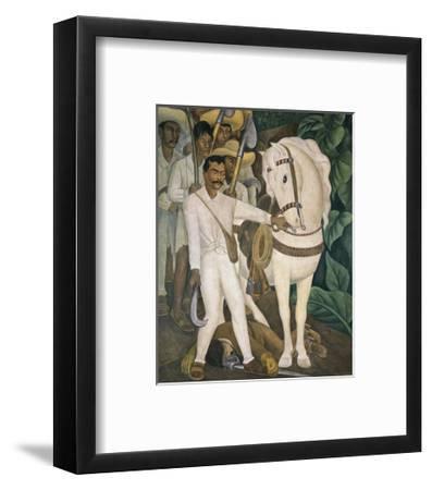 Agrarian Leader Zapata-Diego Rivera-Framed Art Print