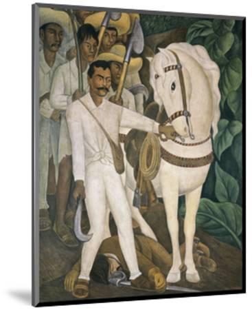 Agrarian Leader Zapata-Diego Rivera-Mounted Art Print