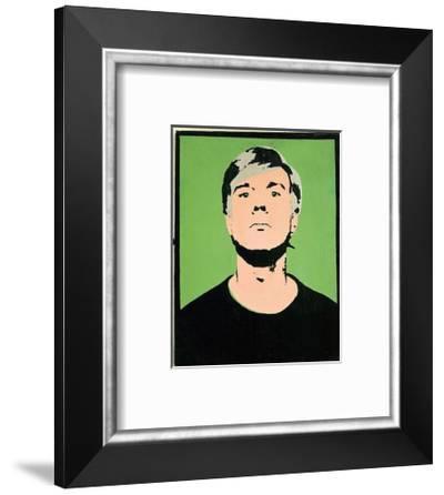 Self-Portrait, c.1964 (on green)-Andy Warhol-Framed Art Print