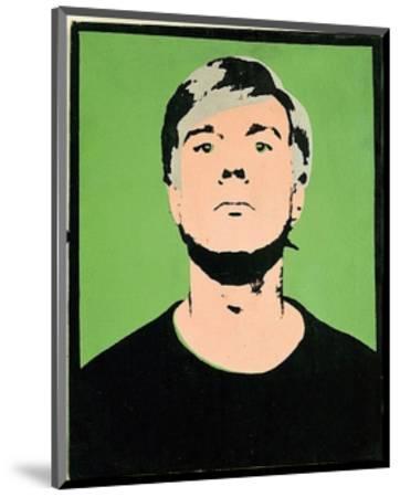 Self-Portrait, c.1964 (on green)-Andy Warhol-Mounted Art Print