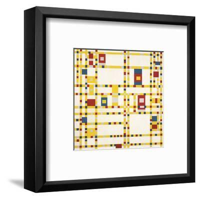 Broadway Boogie Woogie-Piet Mondrian-Framed Art Print