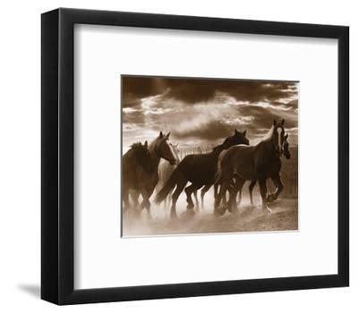 Running Horses and Sunbeams-Monte Nagler-Framed Art Print