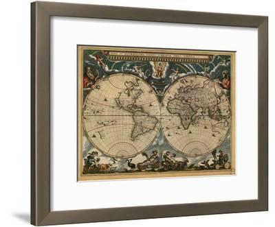 World Map, c.1664--Framed Art Print