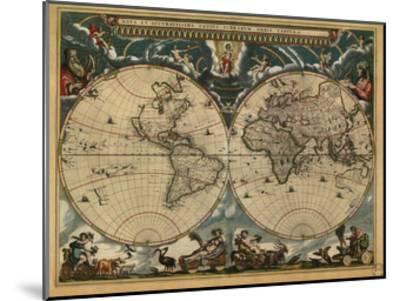 World Map, c.1664--Mounted Art Print