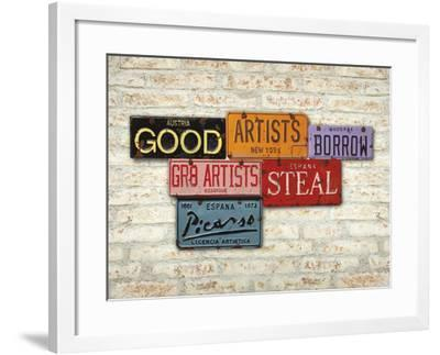 Picasso, Steal-Greg Constantine-Framed Art Print