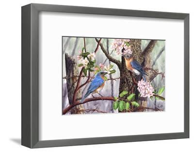 Bluebirds-Al Dornish-Framed Art Print