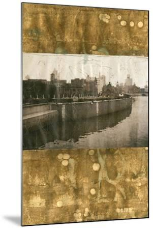 Oxidized Gold Cityscape II-Tang Ling-Mounted Art Print
