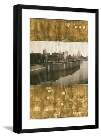 Oxidized Gold Cityscape II-Tang Ling-Framed Art Print