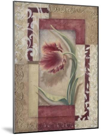 Red Tulip Collage I-Rita Broughton-Mounted Art Print