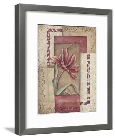 Red Tulip Collage II-Rita Broughton-Framed Art Print