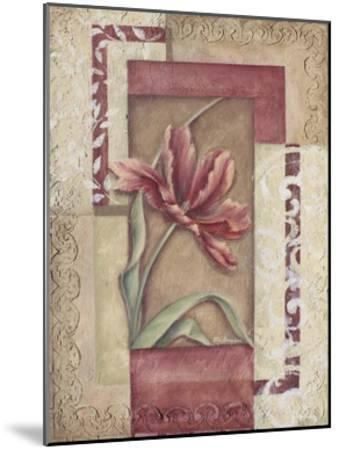 Red Tulip Collage II-Rita Broughton-Mounted Art Print