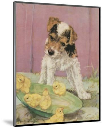 Terrier Trouble II--Mounted Art Print
