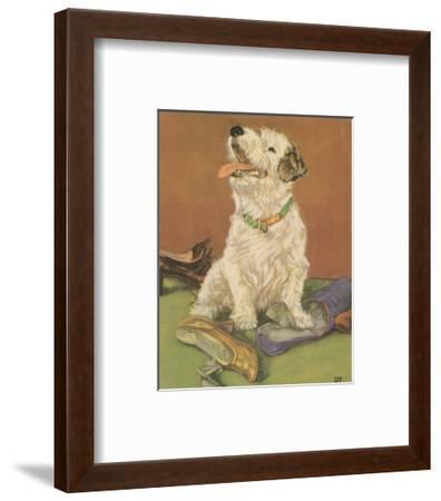 Terrier Trouble III--Framed Art Print