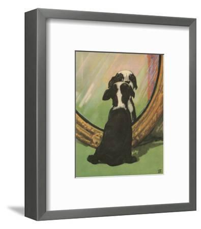 Terrier Trouble IV--Framed Art Print