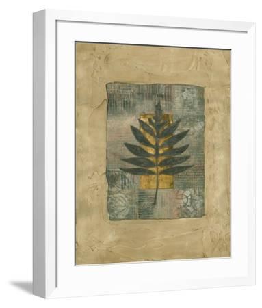 Textured Leaf Fresco I--Framed Art Print