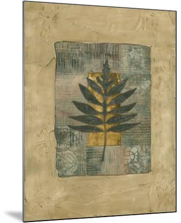 Textured Leaf Fresco I--Mounted Art Print
