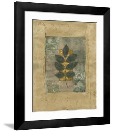 Textured Leaf Fresco II--Framed Art Print