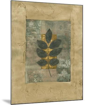 Textured Leaf Fresco II--Mounted Art Print