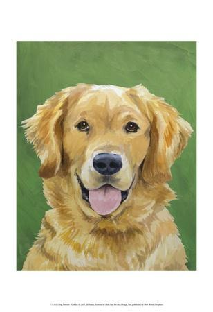Dog Portrait, Golden-Jill Sands-Framed Art Print