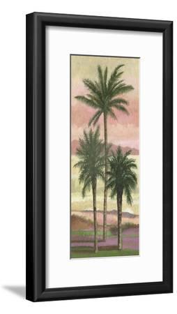 Blush Palms II-Victor Valla-Framed Art Print