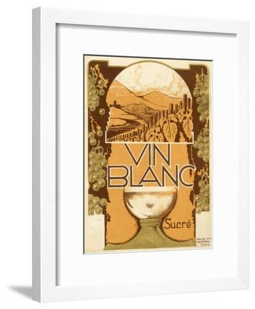 Vin Blanc--Framed Art Print