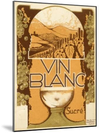 Vin Blanc--Mounted Art Print